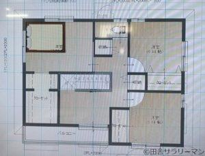 ユニバーサルホームの2F間取り案