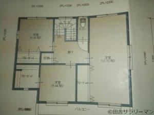 我が家の2階間取図