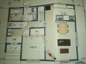 我が家の1階間取図