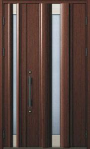 玄関の親子ドア