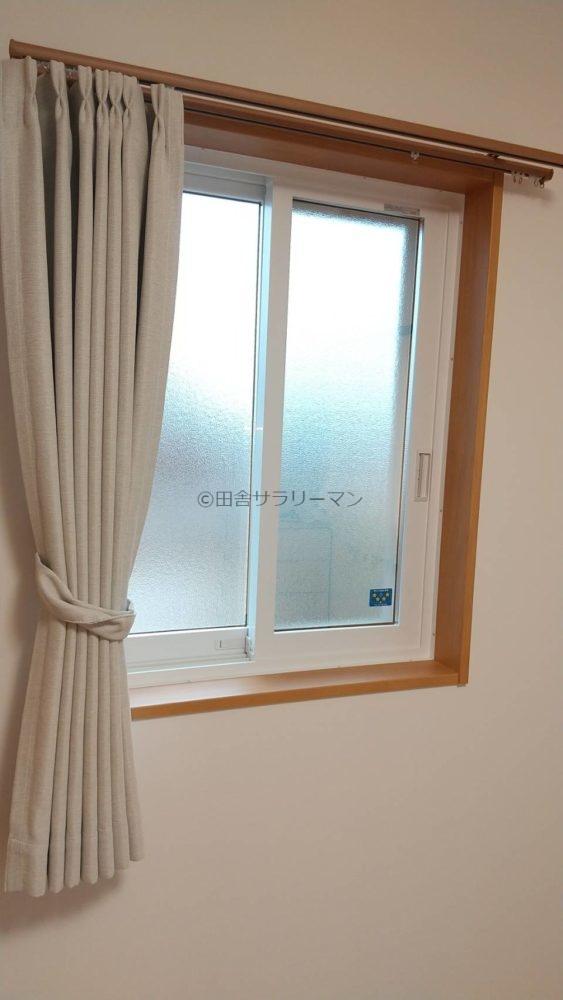 2階西側部屋カーテン