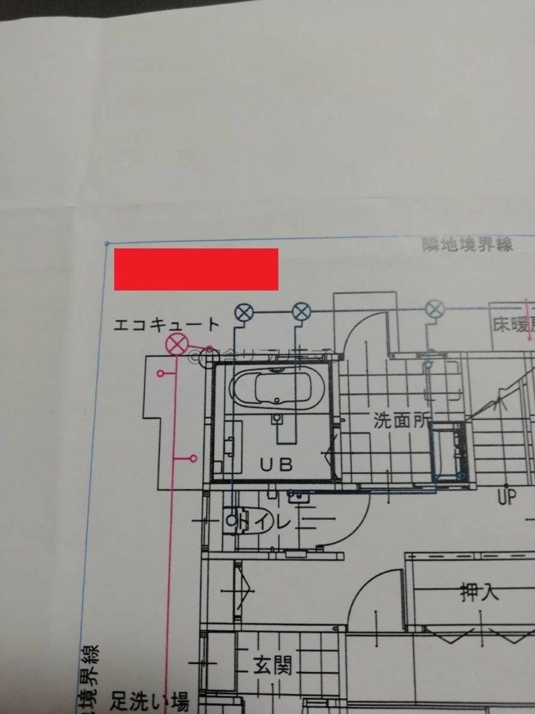 物置を設置した場所の配置図