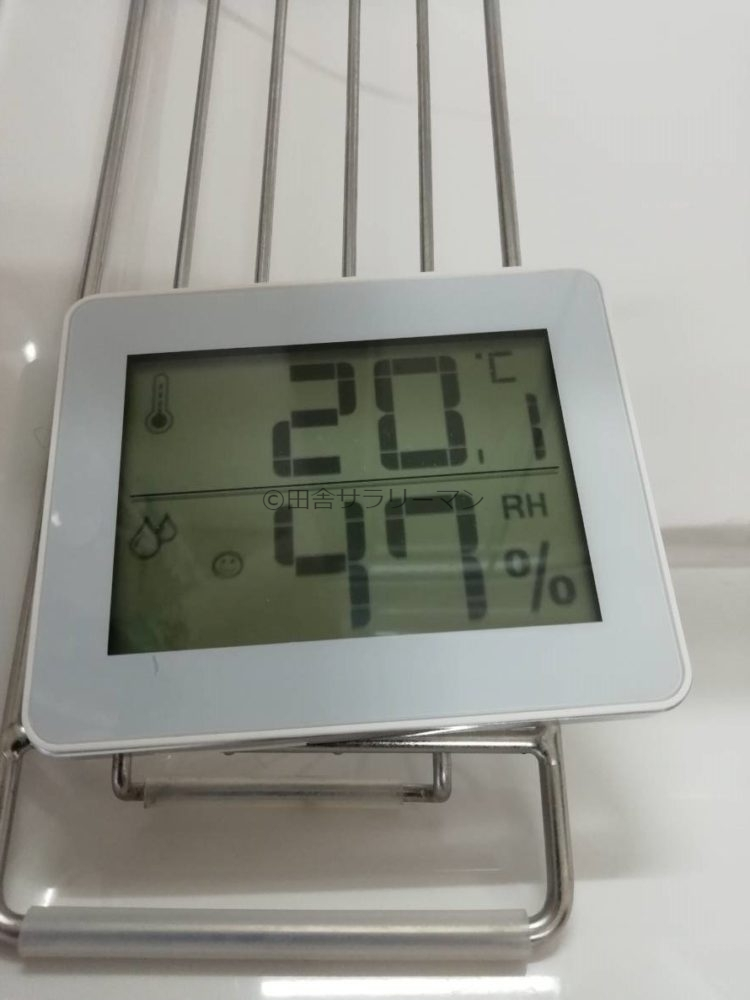 1階LDKの温度と湿度