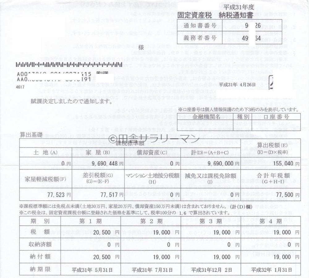 固定資産税納税通知書